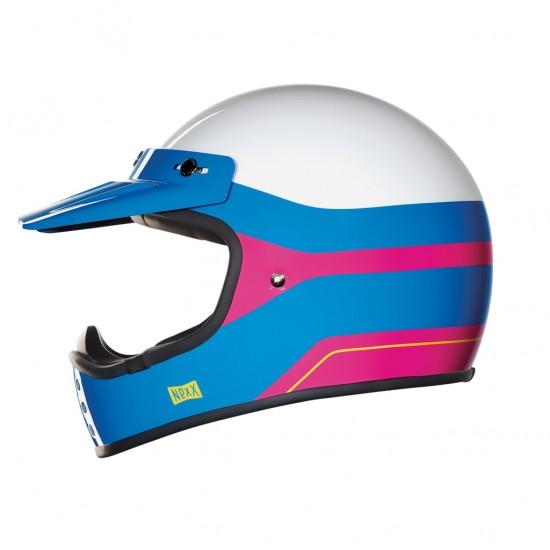 Nexx X.G200 Dirt Fever White Pink Blue Off Road Helmet