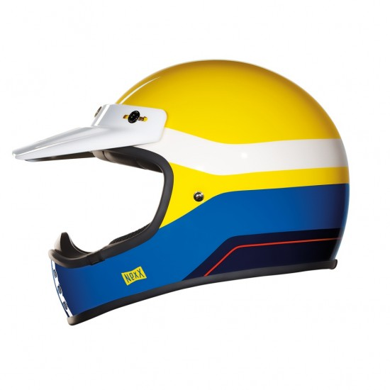 Nexx X.G200 Dirt Fever Yellow Blue White Off Road Helmet