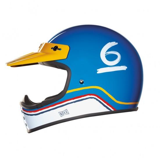 Nexx X.G200 Flat 6 Blue Off Road Helmet