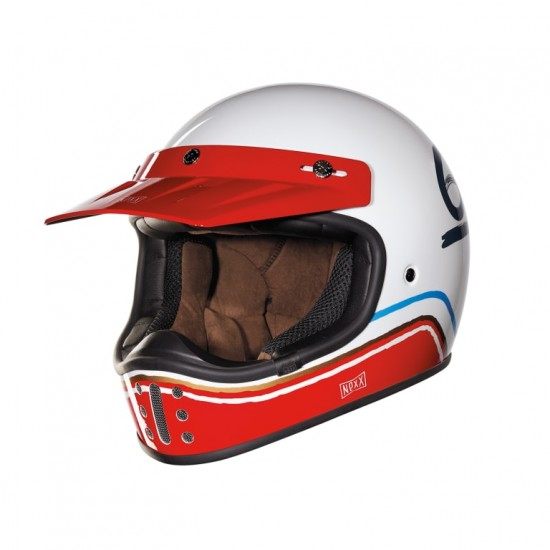 Nexx X.G200 Flat 6 White Off Road Helmet