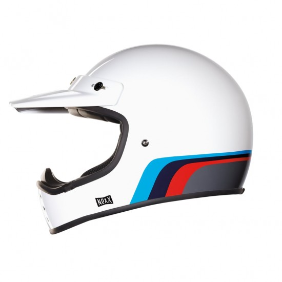 Nexx X.G200 Rok'on White Red Blue Off Road Helmet
