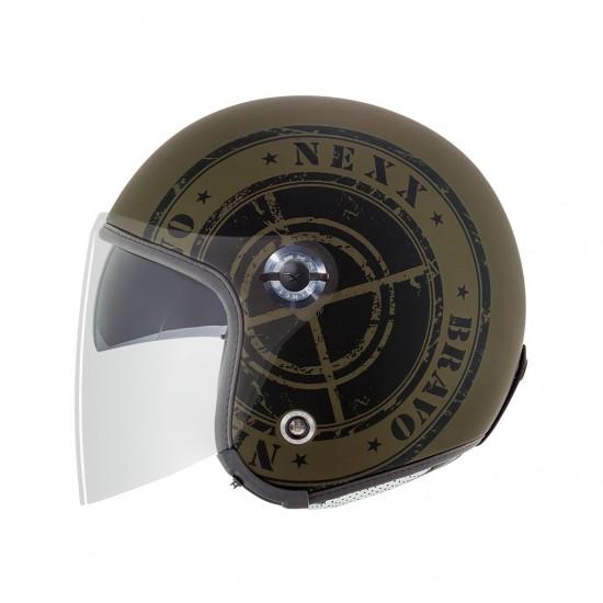 Nexx X.70 Bravo Military Green Matt Open Face Helmet