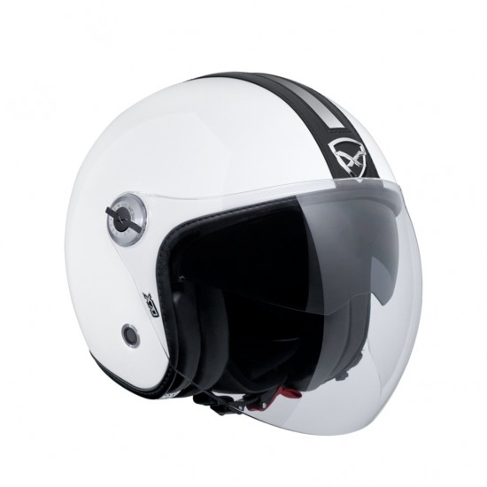 Nexx X.70 Groovy White Black Open Face Helmet