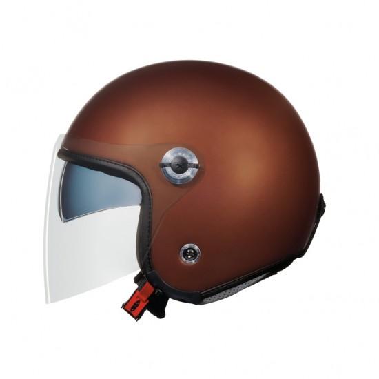 Nexx X.70 Plain Chocolate Brown Open Face Helmet