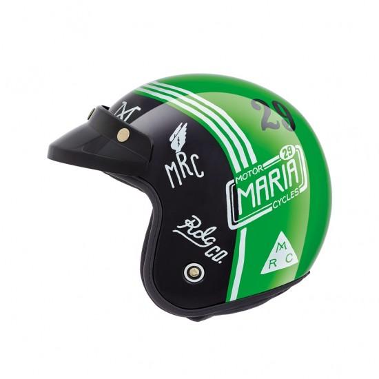 Nexx X.G10 Muddy Hog Green Open Face Helmet