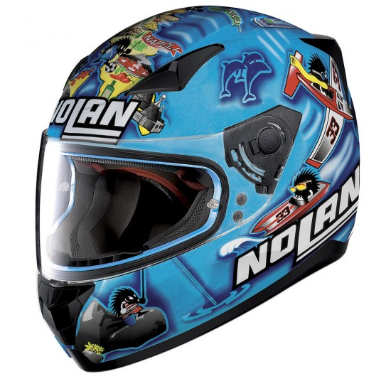 Nolan N60-5 Gemini Replica M Melandri Italy Metal Pearl Blue Full Face Helmet