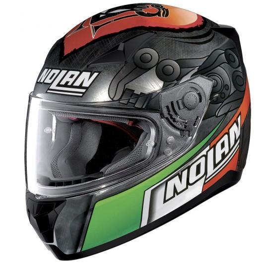 Nolan N60-5 Gemini Replica M Melandri Scratched Chrome Full Face Helmet