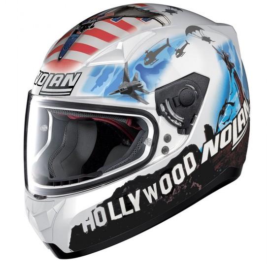 Nolan N60-5 Gemini Replica M Melandri Usa Metal White Full Face Helmet