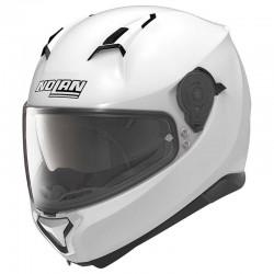 Nolan N87 Classic N-Com Metal White Full Face Helmet