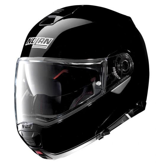 Nolan N100-5 Classic N-Com Glossy Black modular Helmet