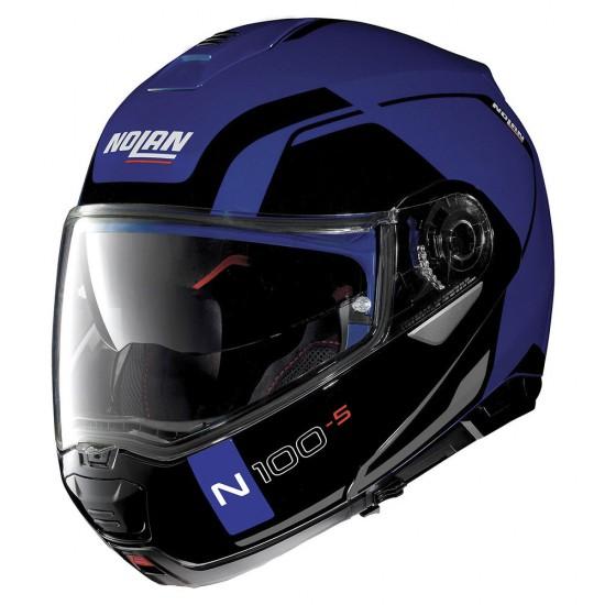 Nolan N100-5 Consistency N-Com Flat Cayman Blue Modular Helmet