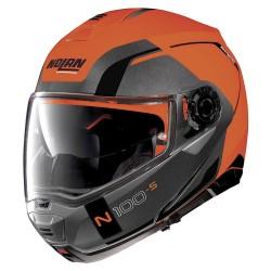 Nolan N100-5 Consistency N-Com Flat Led Orange Modular Helmet