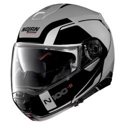 Nolan N100-5 Consistency N-Com Flat Silver Modular Helmet