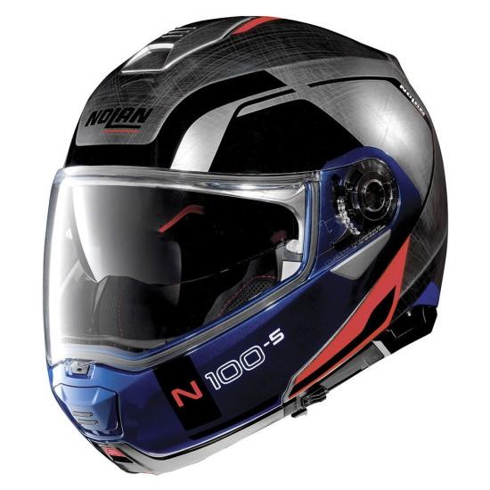Nolan N100-5 Consistency N-Com Scratched Chrome Modular Helmet