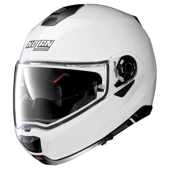 Nolan N100-5 Special N-Com Pure White Modular Helmet