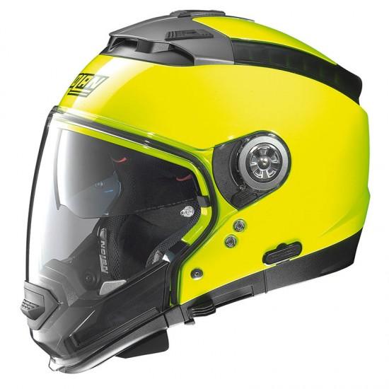 Nolan N44 Evo Hi-Visibility N-Com Fluo Yellow Modular Helmet