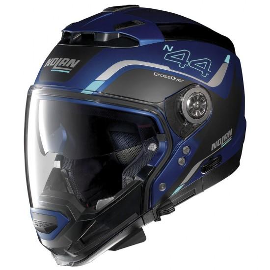 Nolan N44 Evo Viewpoint N-Com Flat Cayman Blue Modular Helmet