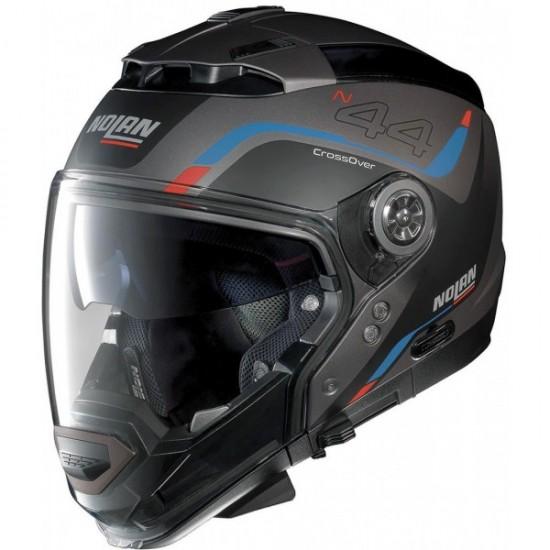 Nolan N44 Evo Viewpoint N-Com Flat Lava Grey Modular Helmet