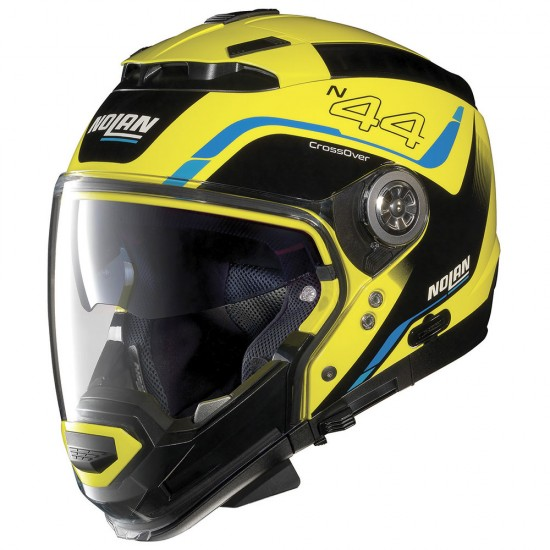 Nolan N44 Evo Viewpoint N-Com Led Yellow Modular Helmet