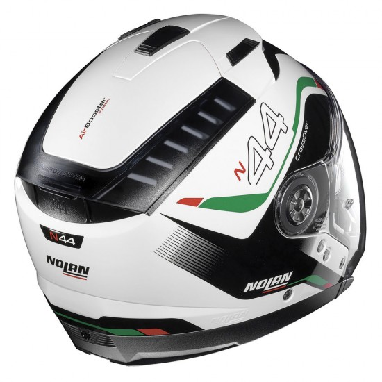 Nolan N44 Evo Viewpoint N-Com Metal White Green Modular Helmet