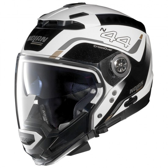 Nolan N44 Evo Viewpoint N-Com Metal White Modular Helmet