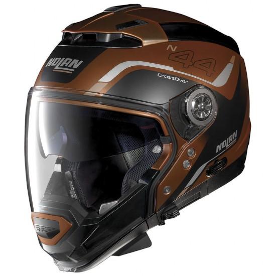Nolan N44 Evo Viewpoint N-Com Scratched Flat Copper Modular Helmet