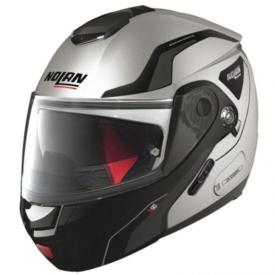 Nolan N90-2 Straton N-Com Flat Silver Modular Helmet