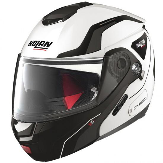 Nolan N90-2 Straton N-Com Metal White Modular Helmet
