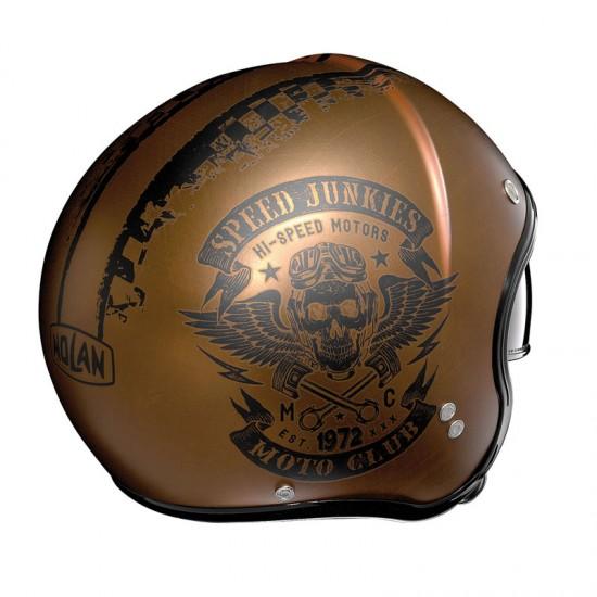 Nolan N21 Speed Junkies Scratched Flat Copper Jet Helmet