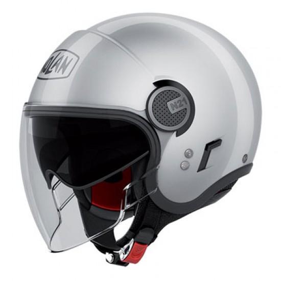 Nolan N21 Visor Classic Platinum Silver Jet Helmet
