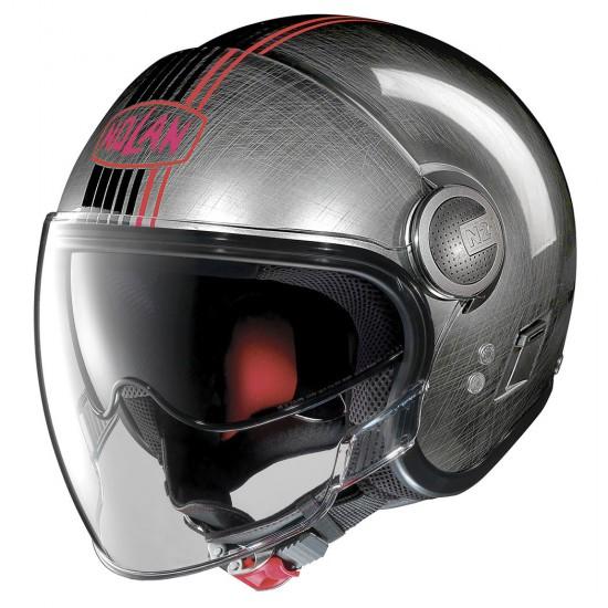 Nolan N21 Visor Joie De Vivre Scratched Chrome Jet Helmet