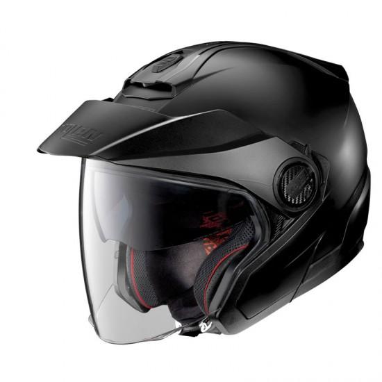 Nolan N40-5 Classic N-Com Flat Black Jet Helmet
