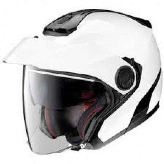 Nolan N40-5 Classic N-Com Metal White Jet Helmet