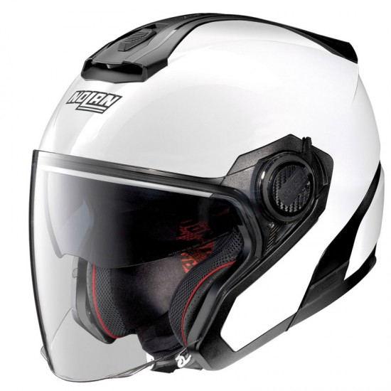 Nolan N40-5 Special N-Com Pure White Jet Helmet
