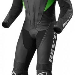 Rev'it Akira One Piece Leather Black Acid Green Suit