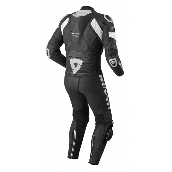 Rev'it Akira One Piece Leather Black White Suit