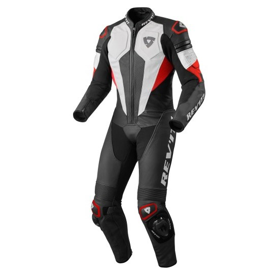 Rev'it Akira One Piece Leather White Red Suit