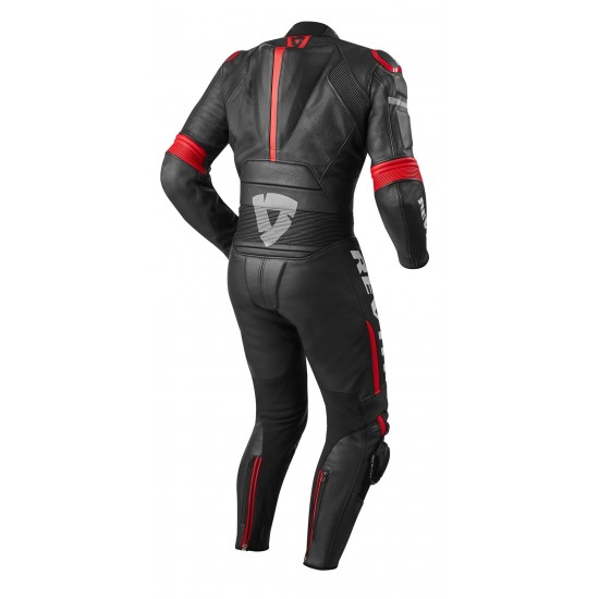 Rev'it Masaru One Piece Leather Black Red Suit