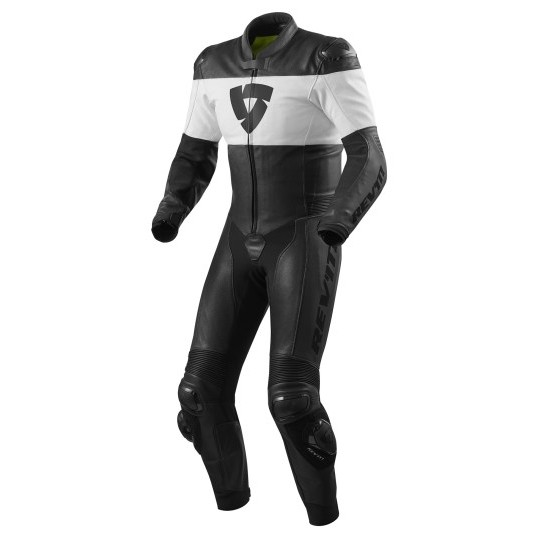 Rev'it Nova One Piece Leather Black White Suit