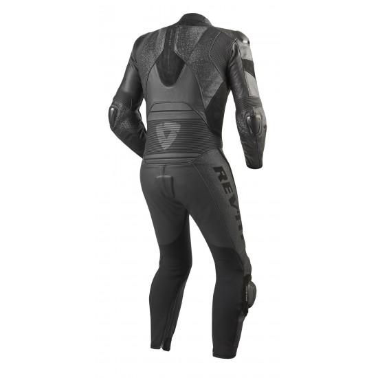 Rev'it Pulsar One Piece Leather Black Suit