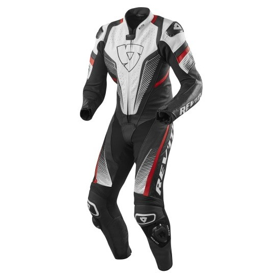 Rev'it Spitfire One Piece Leather White Red Suit