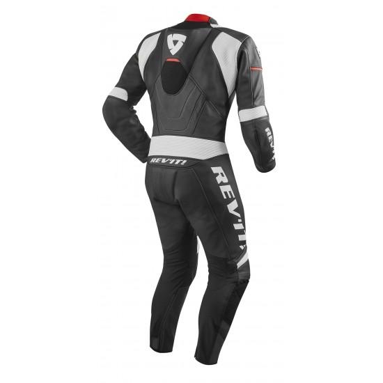 Rev'it Venom One Piece Leather Black White Red Suit