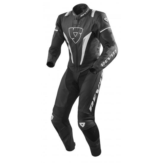 Rev'it Venom One Piece Leather Black White Suit