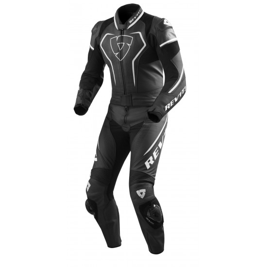 Rev'it Vertex Pro Combi Two Piece Leather Black White Suit