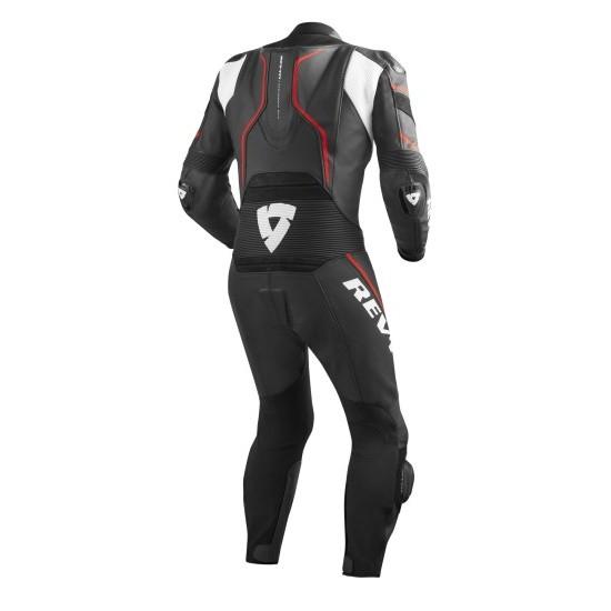 Rev'it Vertex Pro One Piece Leather Black Red Suit