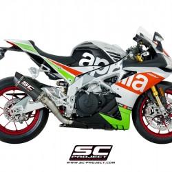 SC-Project Oval Racing Silencer Matt Carbon Fiber Aprilia Tuono V4 MPN - A16-40FTC