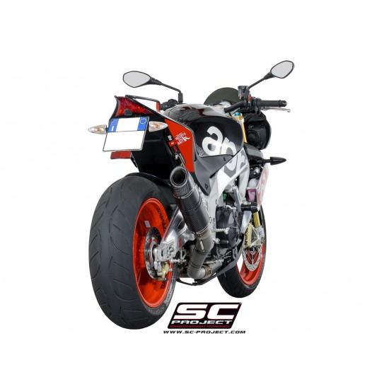 SC-Project Oval Racing Silencer Matt Carbon Aprilia Tuono V4 1100 RR / Factory 2015-2016 MPN - A07-T40FTC