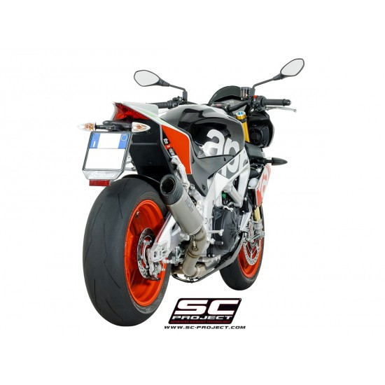 SC-Project Oval Racing Silencer Titanium Aprilia Tuono V4 1100 / RSV4 2017-20 MPN # A16-40FTT