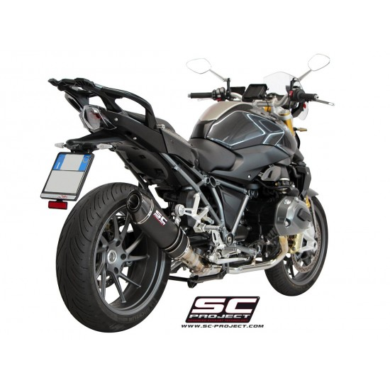 SC-Project Oval Silencer Black Stainless BMW R 1200 R / RS 2015-2016 MPN - B22-01O