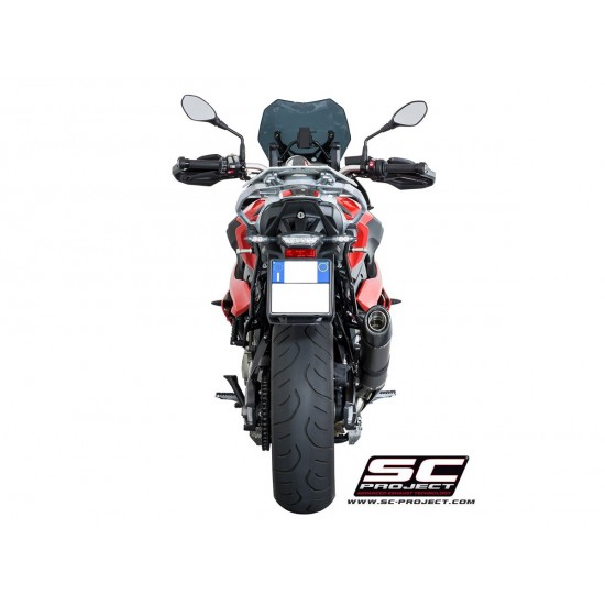 SC-Project Oval Silencer - High Position Black Stainless BMW S 1000 XR 2017-2018 MPN - B23-H01O
